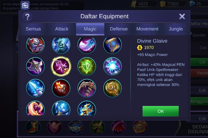 Bermain Mobile Legend (item)