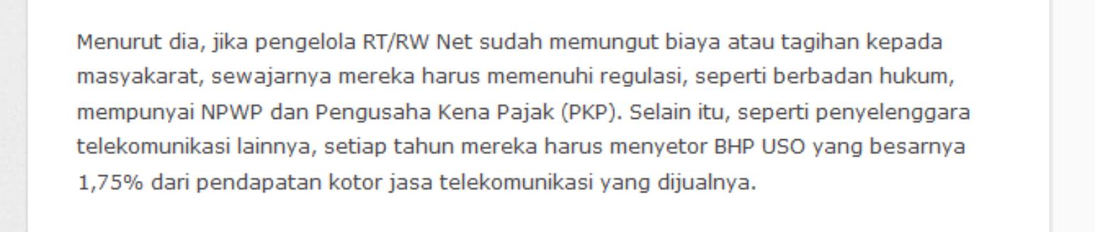 regulasi aturan dasar bisnis wifi rt rw net