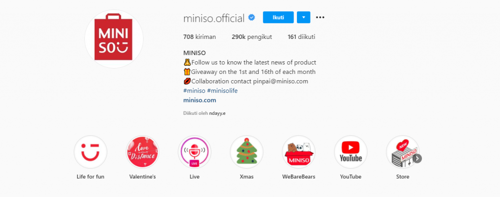 Ragam Fitur Instagram Bisnis